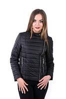 Молодежная женская куртка Леони черный (42-52)