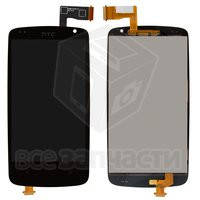 Дисплейный модуль для мобильного телефона HTC Desire 500, черный