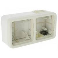 Двухместная коробка для накладного монтажа, горизонтальная, белый - Legrand Plexo IP55–IK07