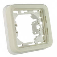 Одноместный суппорт с рамкой для встроенного монтажа, белый - Legrand Plexo IP55–IK07