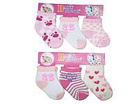 Носки для девочки, Baby Softsail, 3 шт, размеры (длина 9 см), арт. 4401