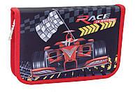 """Пенал твёрдый одинарный с клапаном """"Red Race"""" 1 Вересня 531336, фото 1"""