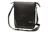 Кожаная мужская сумка Tom Stone L501 черная