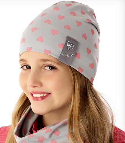 Демісезонна модна шапочка c підкладкою для дівчинки від Marika Польща
