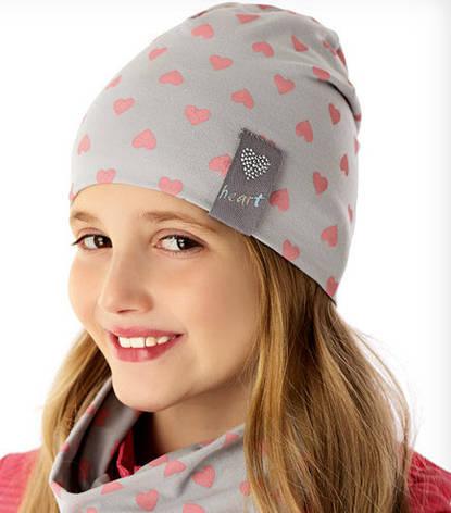 Демісезонна модна шапочка c підкладкою для дівчинки від Marika Польща, фото 2