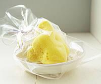 Шелковая морская губка Fina Silk 3-3.5 дюйма & мыльница сирень