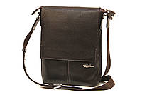 Кожаная мужская сумка Tom Stone L501 коричневая