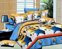 Детское постельное белье Миньоны, подростковый комплект (бязь)