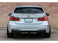Юбка диффузор заднего бампера BMW F30 M Sport Paket под одинарную насадку