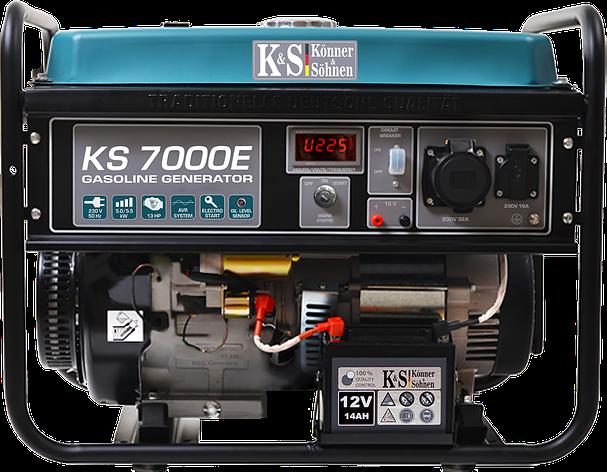 Бензиновый генератор Konner & Sohnen KS 7000E, фото 2