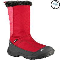 Детские зимние сапоги красные водонепроницаемые на молнии