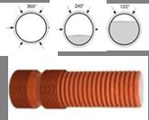 Труба дренажная жёсткая ПП тип InCor д. 200х6000 мм