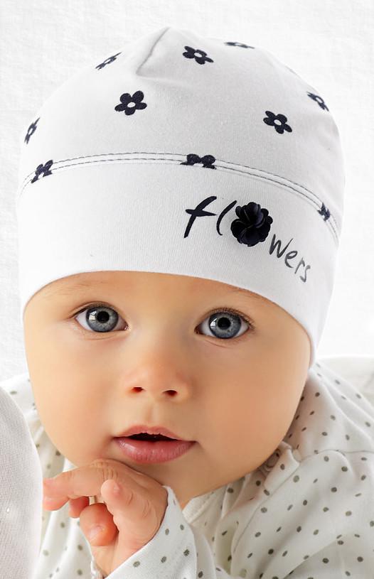 Модна одношарова шапочка для дівчинки лапули від Marika Польща
