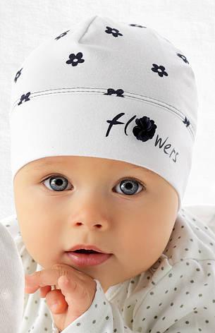 Модна одношарова шапочка для дівчинки лапули від Marika Польща, фото 2