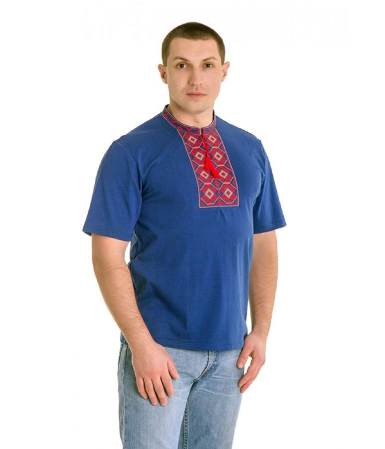 Вышитая футболка. Мужская вышиванка. Футболка вышиванка.