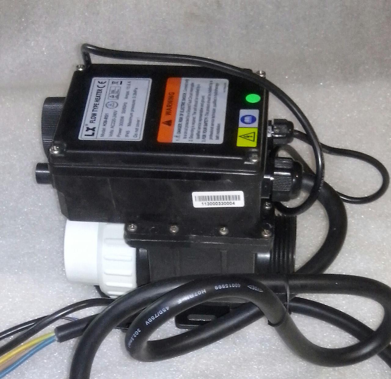 Електричний проточний водонагрівач Jazzi Pool LX H30-RS1 3kw