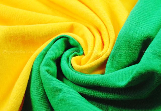Мужская футболка с цветными рукавами Солнечно-жёлтый/Ярко-зелёный