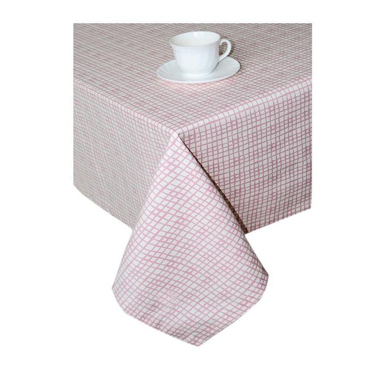Скатерть Прованс # Andre Tan 140*140 см Розовая клетка