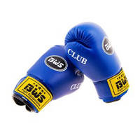 Перчатки боксерские BWS Club (4 унции, синий)