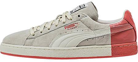 Женские кроссовки Staple x Puma Suede Pigeon Star White Georgia Peach Grey/Red 361617 03, Пума Сьюд, фото 2