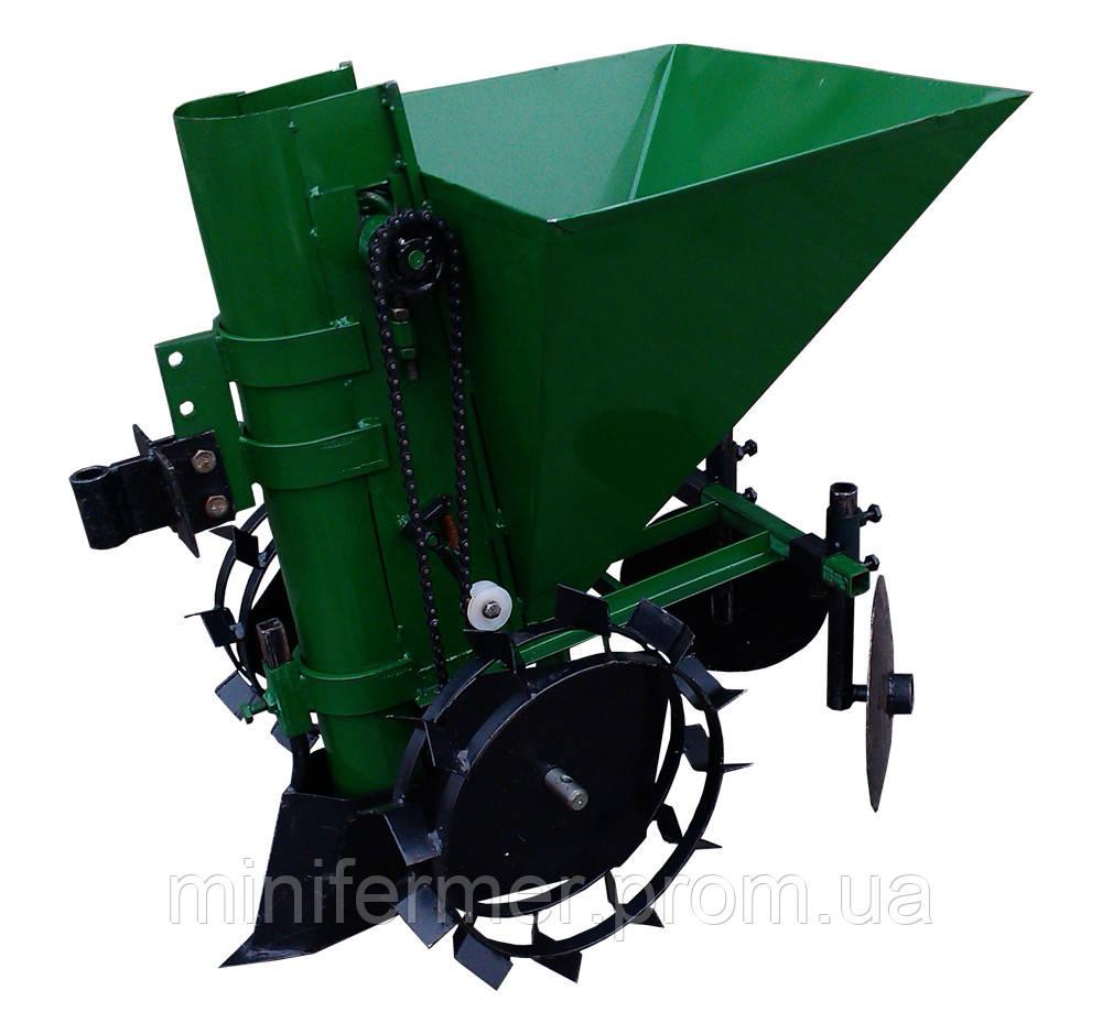 Картофелесажатель КСМ-1Ц мотоблочный (зеленый)