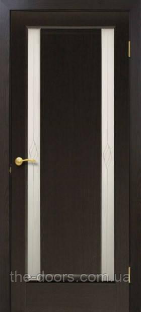 Двери межкомнатные ПВХ Венера стекло с рисунком