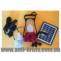 Фонарь-лампа GDLITE GD-8566+солнечная батарея+Power Bank+2 лампы