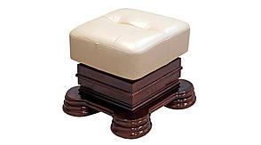 Кожаная мебель Монарх: раскладной 2х-местный диван и пуф, фото 3