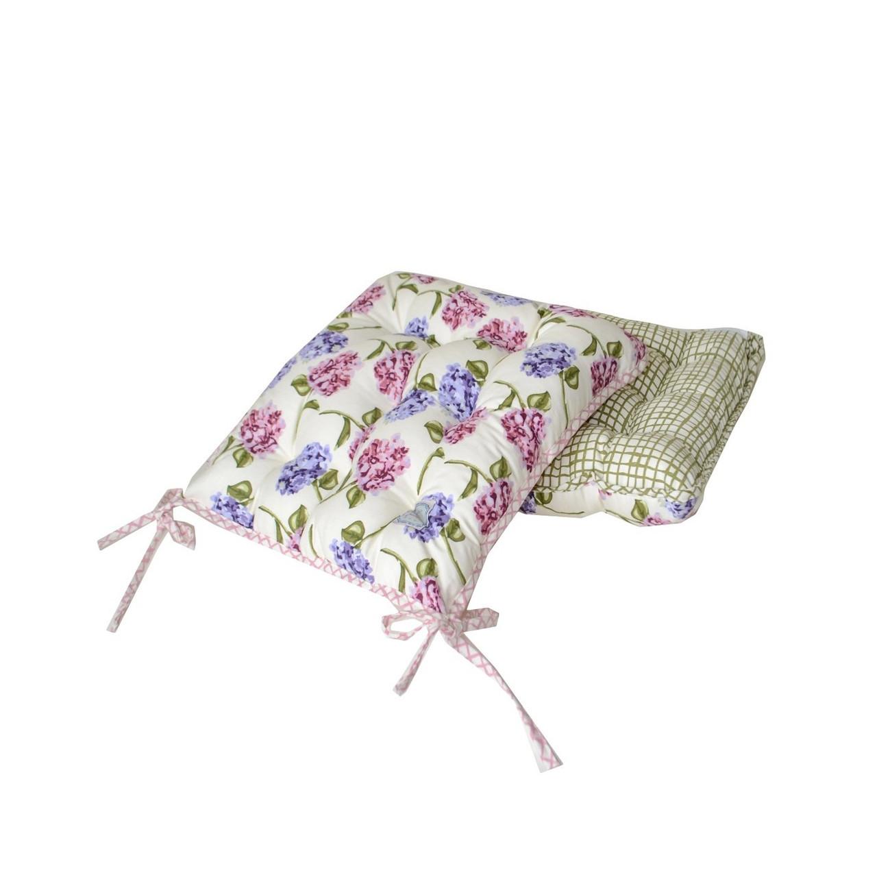 Подушка на стул Оливкова клітинка 40х40см ТМ Прованс # Andre Tan