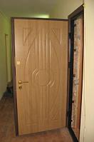 Двери входные в квартиру металлические с МДФ накладкой