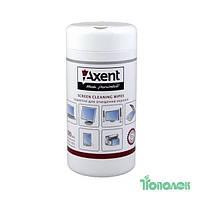 Салфетки для офисного оборудования AXENT 5302  для экранов 100шт