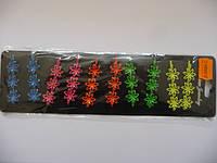 Невидимки цветные2, цена за пл., в пл. 10шт., 15*8см(Н240007)