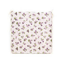 """Подушка на стушл  """"lilac Rose""""с кружевом 40х40 см"""