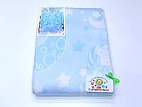 Хлопковое одеяло в роддом (светло-голубое с мишками)