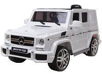 Детский электромобиль Mercedes G63 AMG (белый)