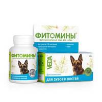 Фитомины с фитокомплексом для зубов и костей для собак, 100 таб., (Веда)