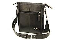 Кожаная мужская сумка Tom Stone L502 черная