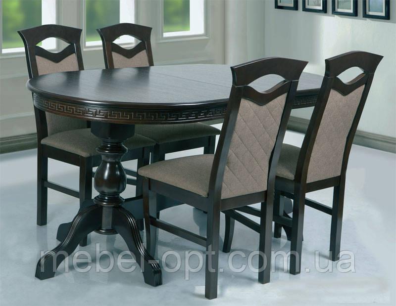 Стол обеденный деревянный Оскар Люкс венге шоколад  (160+2х40)х90х75