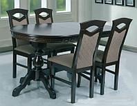 Стол обеденный деревянный Оскар Люкс венге шоколад  (160+2х40)х90х75, фото 1