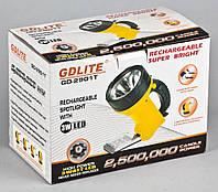 Фонарь-прожектор аккумуляторный +боковая панель GD-2901T 6+1 LED(3W)