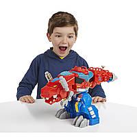 Трансформер оптимус прайм Playskool Heroes Transformers Rescue Bots Optimus Primal Figure, фото 1