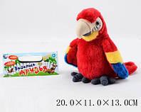 Муз. попугай, батар., движение, звук. сопровождение, в пакете 20*11*13 см (72 шт./2)(CL1192A)