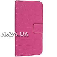 Чехол книжка для Samsung Galaxy S6 розовый лак