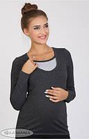 Лонгслив для беременных и кормящих Layma XL
