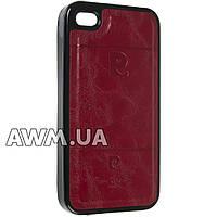 Чехол накладка Pierre Cardin для Apple iPhone 4 / 4S красный