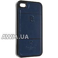 Чехол накладка Pierre Cardin для Apple iPhone 4 / 4S синий