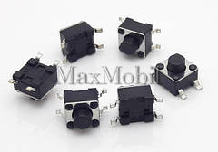 Кнопка тактовая 4.5x4.5x4.3 мм SMD 4-pin BS12