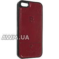 Чехол накладка Pierre Cardin для Apple iPhone 5 / 5S / SE красный