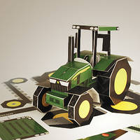 Бумажный трактор John Deere