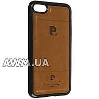Чехол накладка Pierre Cardin для Apple iPhone 7 коричневый